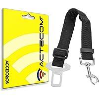 ACTECOM® Arnes de seguridad de coche para mascotas (perro, gato,...) bultos ajustable cinturon
