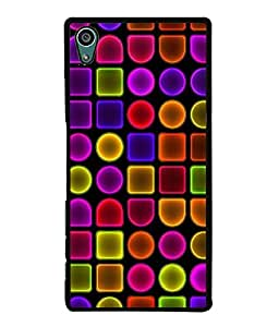 FUSON Designer Back Case Cover for Sony Xperia Z5 :: Sony Xperia Z5 Dual 23MP (Colourfull Daimonds pearls Jewells Pattern Threads)