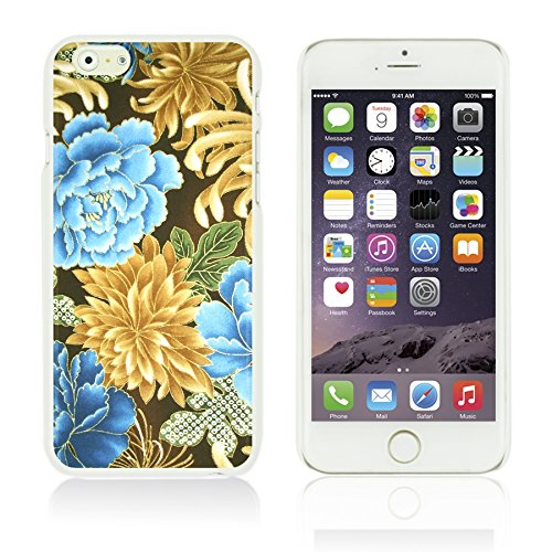 OBiDi - Flower Pattern Hardback Case / Housse pour Apple iPhone 6 Plus / 6S Plus (5.5)Smartphone - Multicolor Floral Shapes Gold Chrysanthemum