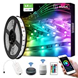 LE LED Strip Alexa, 5M LED Streifen mit Musik, Smart RGB Lichtband [nur 2.4GHz] WiFi LED Leiste Lichterkette für Haus, Küche, Party, TV, LED Band Kompatibel mit Alexa, Google Home