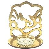 Satyam Kraft ( Pack Of 2 ) Ganesh Ji And Lakshmi Ji Shadow Diya Tealight Candle Holder Stand For Pooja And Decorative/Gift/Diwali Gift/Diwali Decor/wedding Gift/Diwali Diya