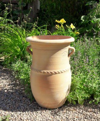 Handgefertigte frostfeste terracotta Amphore mit Henkeln, 40 cm Dekoration oder Bepflanzung im Garten Außen oder Innen,Cistus
