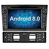 Ohok 7 Zoll Bildschirm 2 Din Autoradio Android 8.0.0 Oreo Octa Core Radio mit Navi Moniceiver DVD GPS Navigation Unterstützt Bluetooth WLAN DAB+ OBD2 für OPEL Schwarz mit Rückfahrkamera