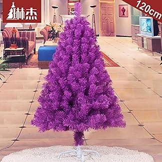 WZR Purple Árbol De Navidad Artificial De Pino,120cm Árbol De Navidad Fácil De Montar con Sólido Soporte En Metal Decoración Navideña Interior Fiestas