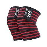 RitFit Peso Lifting-Vendas elásticas de rodilla Vendas Heavy Duty, 72'-Rodillera de compresión elástica para cuclillas, levantamiento de pesas, Olympic y Crossfit (se vende como Par) (sin bolsa)