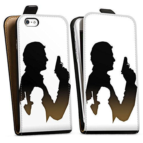 Apple iPhone X Silikon Hülle Case Schutzhülle James Bond Film Downflip Tasche schwarz