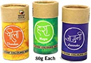 Zest 4 Toyz Non-Toxic Perfumed Herbal Gulal for Holi Celebration, Skin Friendly, Natural Fragrance Handmade Ho