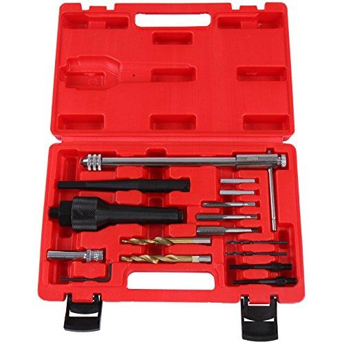 Timbertech 16 tlg. Gluehkerzen Reparatur Werkzeug inkl. Transportkoffer Gewindeinstandsetzung KFZ Werkzeug