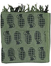Kombat UK Shemagh - Grenade Olive Green - Arab style cotton scarf with tassels