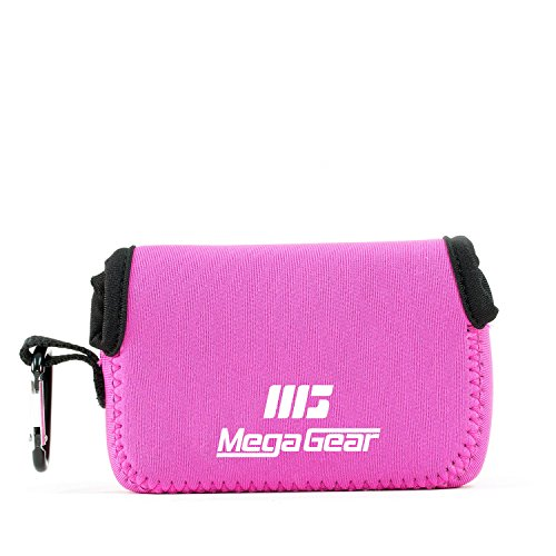 MegaGear MG807  - Estuche de cámara ultra ligero, de neopreno Para Fujifilm FinePix XP130, XP120, XP90, Rosa