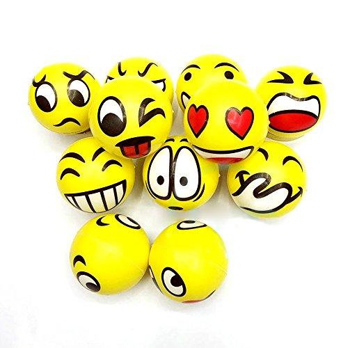 joizo Ball Anti-Stress Emoji Ball Stress Gesichts-Spielzeug Emoji Compression Ball für Erwachsene und Kinder - Stress-bälle Emojis