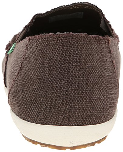 Sanuk Uomo Rounder Hobo Marrone Scuro Slip-on scarpe - Dark Brown