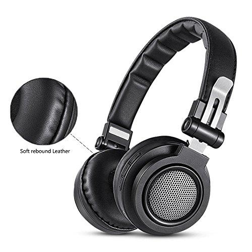 ZENWEN Metall-Wireless Bluetooth-Kopfhörer, Kopf tragen 4,1 Bluetooth Kopfhörer Wireless Computer Handy universal Faltbare Stereo-mus IC-Walkman mit 3,5 mm Audio-Line-Computer Notebook verfügbar - Ic-line