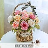 LLPXCC künstliche Blume Wohnzimmer Esstisch Swing Haus dekoriert in Rose American Topfpflanzen und Wandmontage zum Korb Blumen Basketsthat die Farben