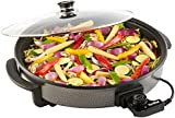 VonShef 1500W Round Multi Cooker, Large 42cm Diameter With Glass Lid, Non-Stick Surface, Free 2 Year Warranty and Cool Touch Handles