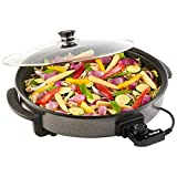 VonShef Large Multi Cooker | Electric Frying Pan with Glass Lid, 42cm Non-Stick