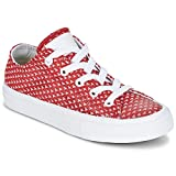 Converse Unisex-Child Chuck Taylor All Star II TPU Knit OX Rot/Weiss Sneaker Low 35