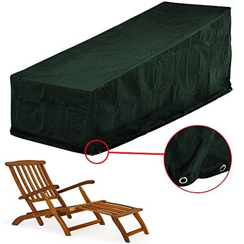 Schutzhülle Deckchair 144 x 58 x 93cm - Abdeckung Liege Gartenliege Abdeckplane Gartenmöbel