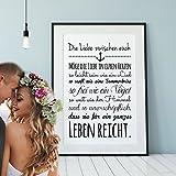 ilka parey wandtattoo-welt® A3 Print für Verliebte Illustration Poster Plakat Druck mit Spruch die Liebe zwischen euch... p85