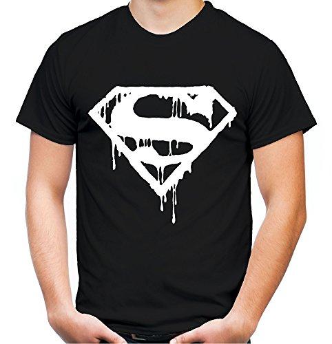 Superman Death Männer und Herren T-Shirt | Spruch Retro Comic Geschenk | Weißer Druck (M, (Superman Kostüm Size Plus)
