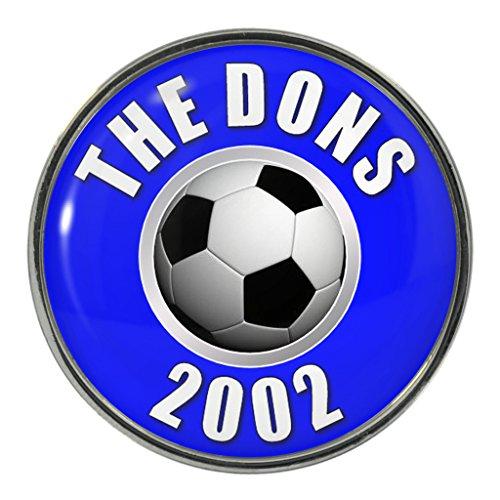 The Dons 2002 Metal Pin Badge