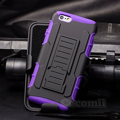 iPhone 6S Plus / iPhone 6 Plus Funda, Cocomii Robot Armor NEW [Heavy Duty] Premium Belt Clip Holster Kickstand Shockproof Hard Bumper Shell [Military Defender] Full Body Dual Layer Rugged Cover Case Carcasa Apple (Purple)