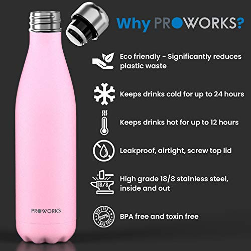 Zoom IMG-2 proworks bottiglia acqua in acciaio