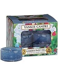Yankee candle 1152920 Boîte de 12 Lumignons bougies parfumées Pois de senteur du jardin
