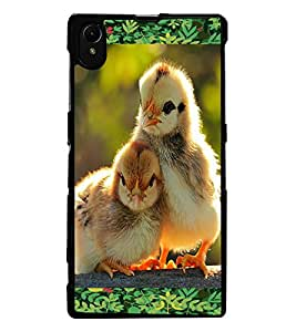 ColourCraft Love Birds Design Back Case Cover for SONY XPERIA Z1