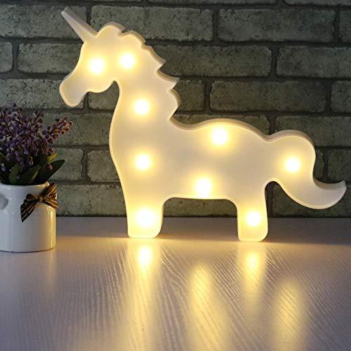 AIZESI Einhorn Lampe Weiß