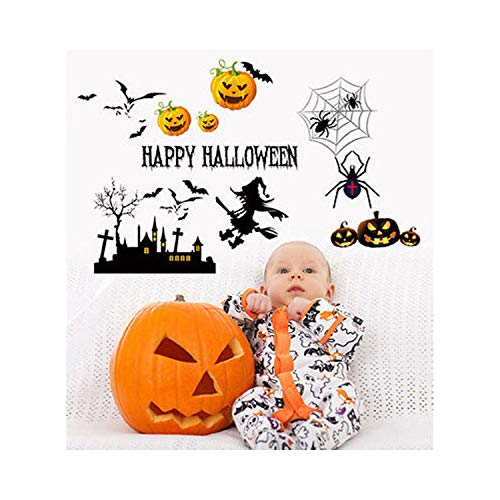 Removable Wall Stickers Halloween Pumpkin Cartoon Decor Decals for Walls Decal Wall Murals 3D ()