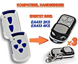 3 X NORMSTAHL EA433 2KS, EA433 4KS Kompatibel Handsender, 433.92Mhz rolling code keyfob
