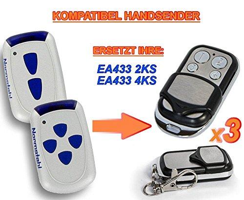 Preisvergleich Produktbild 3 X NORMSTAHL EA433 2KS, EA433 4KS Kompatibel Handsender, 433.92Mhz rolling code keyfob