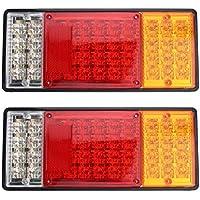 Moliies 2pcs 44LED Lampen-Plastikrahmen-Endstück-Licht-Bremsleuchten für LKW-Anhänger