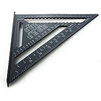 12 pouces Règle de triangle d'alliage d'aluminium, 4EVERHOPE Règle carrée de forme de triangle outil de mesure de 90 degrés pour le charpentier d'ingénieur