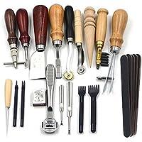 Trousseau de 18 outils pour la couture du cuir, pour loisirs créatifs