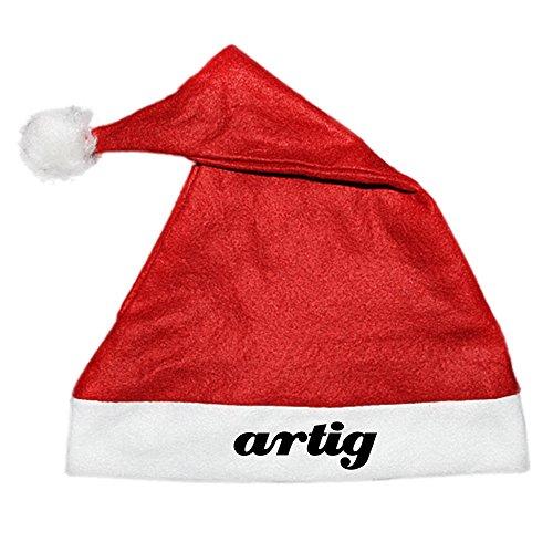 htsmütze Nikolaus Mütze mit Aufdruck - Spruch lustiges Weihnacht-Accessoire für die Xmas Party (Schriftzug: artig) (Kaufen Grinch-kostüm)
