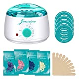 Wax Heater, Jancepro Electric Hair Removal Waxing Kit with 4 Packs of Hard