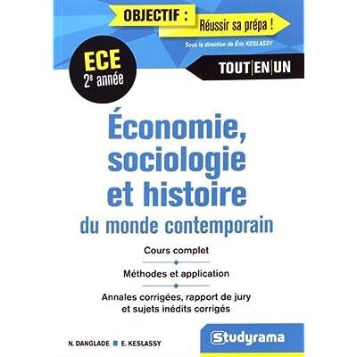 Économie Sociologie Histoire du Monde Contemporain 2e Année ECE