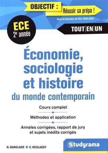 conomie Sociologie Histoire du Monde Contemporain 2e Anne ECE