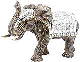 Lesser & Pavey–Exotic arte figura de elefante, dorado, Large