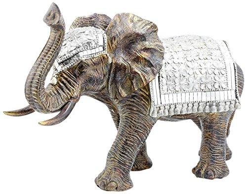 Lesser & Pavey-Exotic Arte Figura de Elefante, Dorado, Large