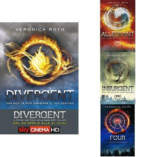 Collezione Divergent di Veronica Roth: Divergent + Insurgent + Allegiant + Four