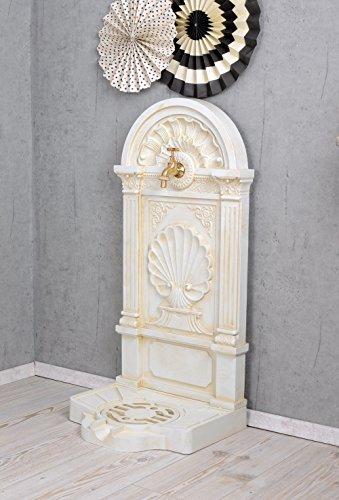 Antiker Standbrunnen, Zierbrunnen, Gartenbrunnen, Brunnen, Brunnen für den Garten, die Terrasse oder schöne Zuhause, in Altweiß – Palazzo Exclusive