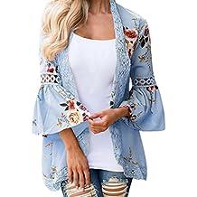 Promoción disponible Ver detalles · ❤ Amlaiworld Cárdigan kimono casual floral mujer encaje Chaqueta de Verano Otoño de señoras Blusa