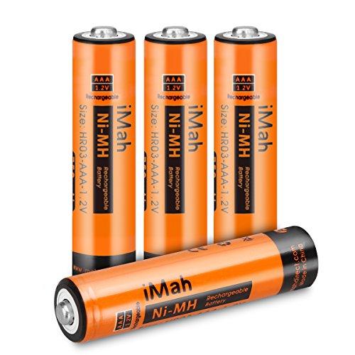 4-Pack iMah HR03 AAA baterías recargables para teléfonos inalámbricos pre-cargado