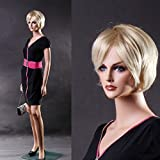 DD RETAILS Plastic Female Straight Full Body Mannequin Display Dummy with Hair Wick (Eco) (Skin Colour, 5.8 Feet)