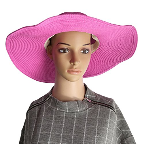 ELECTROPRIME 1x Womens Summer Beach Party Fashion Accs Bowknot Charms Floppy Cap Hat Rose