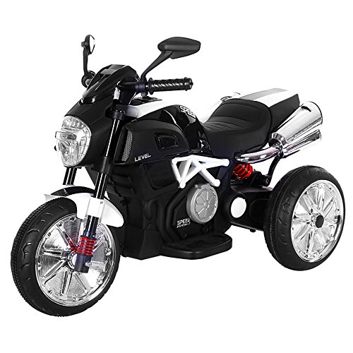kidfun Moto Motocicletta Elettrica per Bambini 6V Speed Bianca
