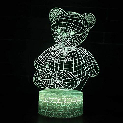 3D Lampe LED Nachtlicht Ragdoll Bär Thema 7 Farbwechsel Touch Stimmung Lampe Kunst Skulptur kreative dekorative LED Tischlampe romantische Freunde Geschenke (Star Wars Bar-thema)
